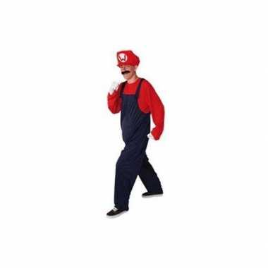 Rood heren verkleedkleding loodgieter tip