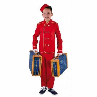 Rood hotelbediende verkleedkleding kind tip
