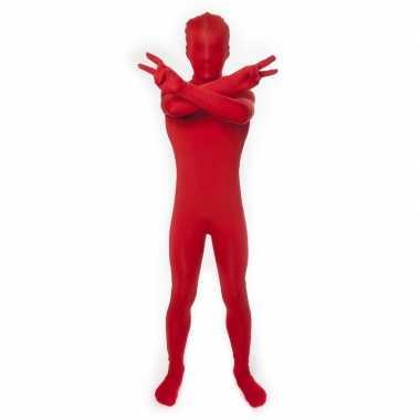 Rood morphsuit verkleedkleding kind tip