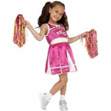 Roze cheerleader carnavalsverkleedkleding tip