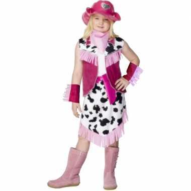 Roze cowboy verkleedkledingje meisjes tip
