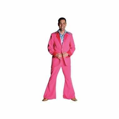 Roze disco verkleedkleding heren tip