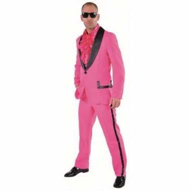 Roze gangnam verkleedkleding mannen tip