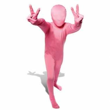 Roze morphsuit verkleedkleding kind tip