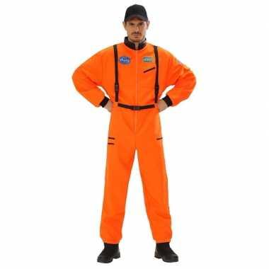 Ruimtevaart verkleed verkleedkleding oranje heren tip