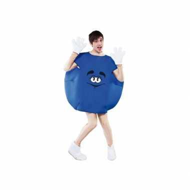 Snoep verkleedkleding blauw tip