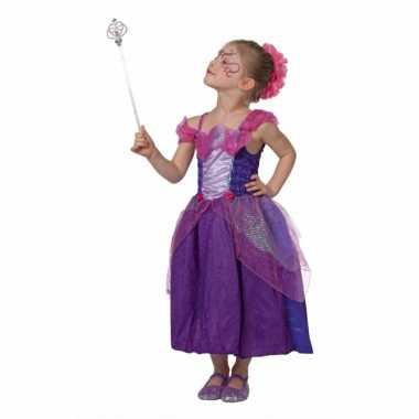 Sprookjes prinses verkleedkleding paars meisjes tip
