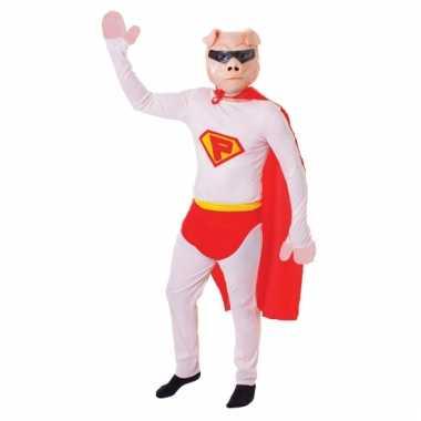 Super varken verkleedkleding masker tip