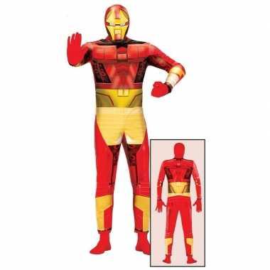 Superheld metalen man verkleedkleding volwassenen tip