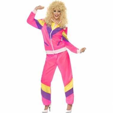 Trainingsverkleedkleding jaren 80 dames tip
