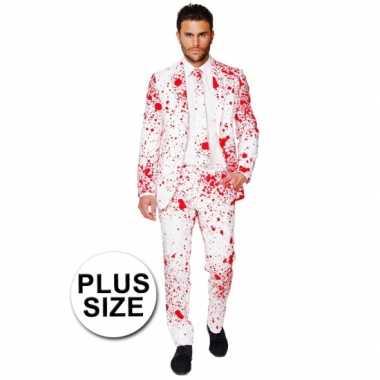 Verkleedkleding  Big size business suit dokter bloedspatten print tip