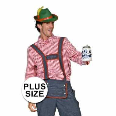 Verkleedkleding  Big size Tiroler blouse heren tip