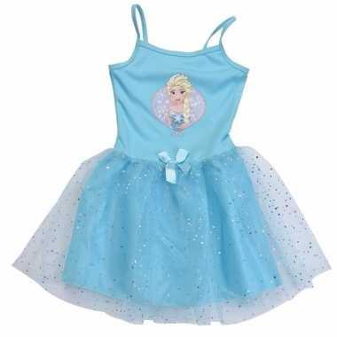 Verkleedkleding blauw frozen jurkje tip