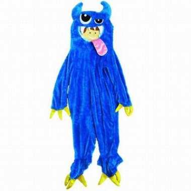 Verkleedkleding  Blauw monster oufit kind tip