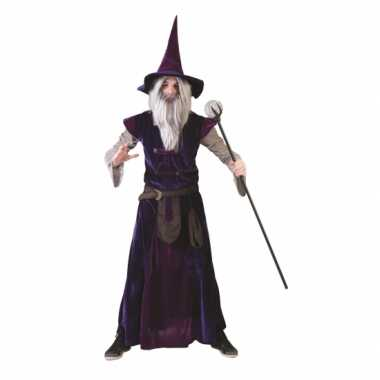 Verkleedkleding  Blauw paarse tovenaars gewaad tip