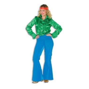 Verkleedkleding  Blauwe broek dames tip