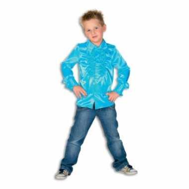 Verkleedkleding  Blauwe disco blouse jongens tip