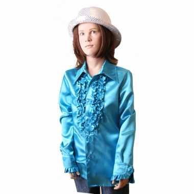 Verkleedkleding  Blauwe disco blouse meisjes tip