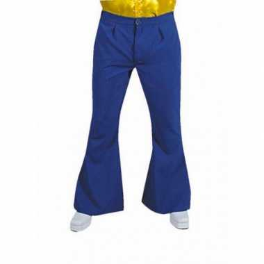 Verkleedkleding  Blauwe disco heren broek tip