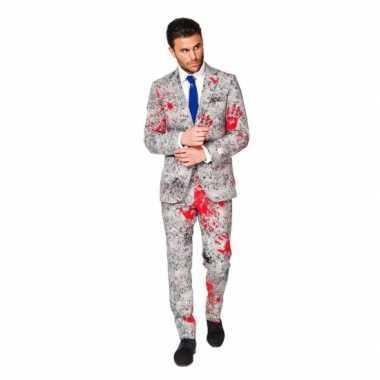 Verkleedkleding  Business suit bloedhanden print tip