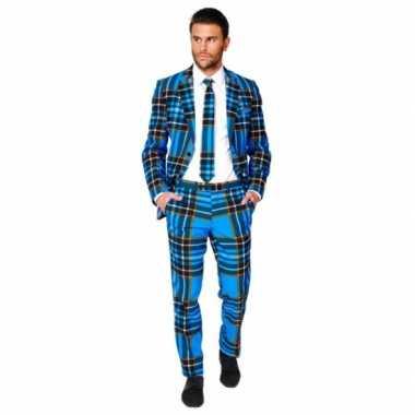 Verkleedkleding  Business suit Braveheart print tip