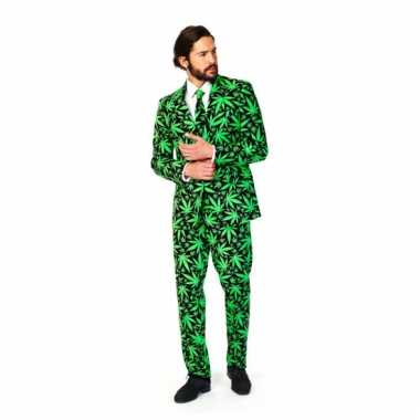 Verkleedkleding  Business suit cannabis print tip