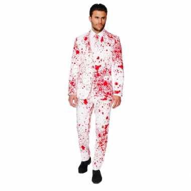 Verkleedkleding  Business suit dokter bloedspatten print tip