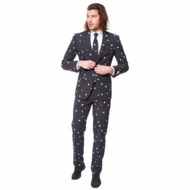 Verkleedkleding  Business suit Pac-Man print tip