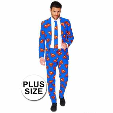 Verkleedkleding  Business suit Superman print tip