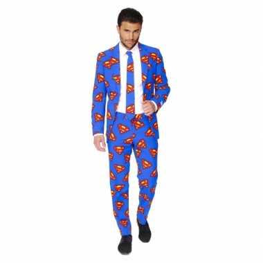 Verkleedkleding  Business suit Superman print tip