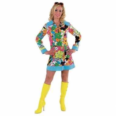 Verkleedkleding  Carnaval Hippie jurk bloemen tip