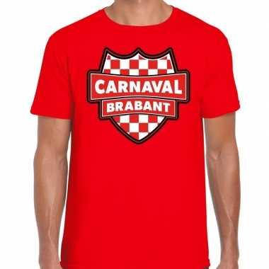 Verkleedkleding carnaval verkleed t shirt brabant rood heren tip