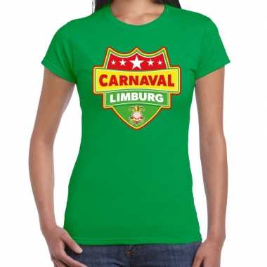 Verkleedkleding carnaval verkleed t shirt limburg groen dames tip