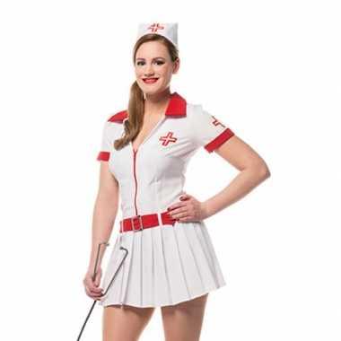 Verkleedkleding  Carnaval verpleegster jurkje dames tip