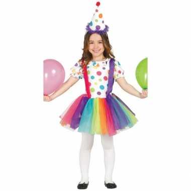 Verkleedkleding  Clowns jurk hoed meisjes tip
