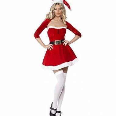 Verkleedkleding  Compleet kerst jurkje bolero tip