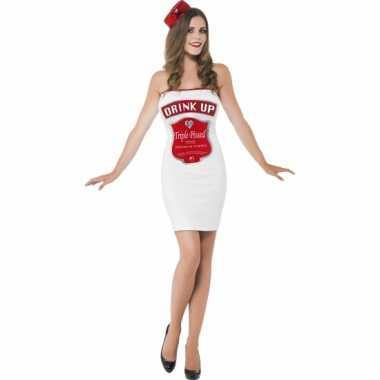 Verkleedkleding  Dames jurkjes carnaval drink up tip