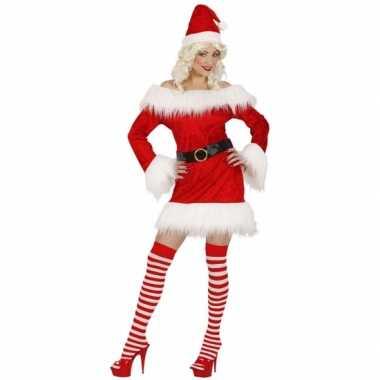 Verkleedkleding  Dames kerstjurkje fluweel tip