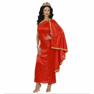 Verkleedkleding  Dames rood gewaad/jurk tip