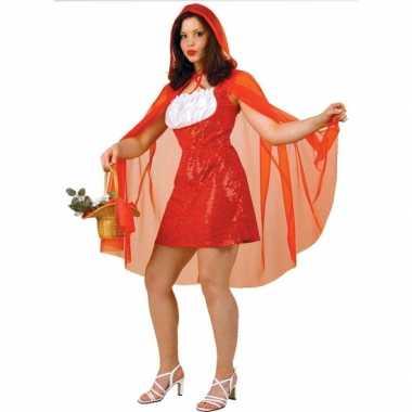Verkleedkleding  Dames verkleedjurkje roodkapje tip