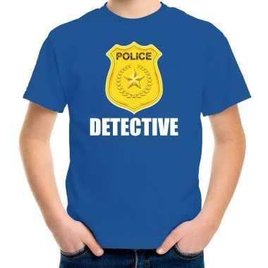 Verkleedkleding detective police / politie embleem t shirt blauw kind tip