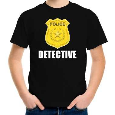 Verkleedkleding detective police / politie embleem t shirt zwart kind tip