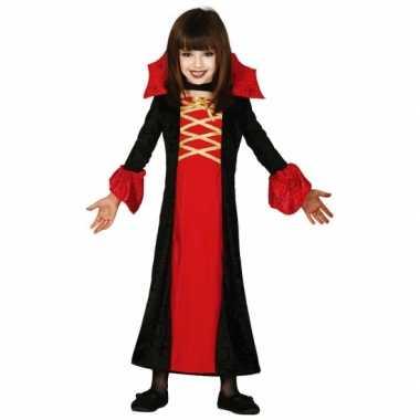 Verkleedkleding  Dracula jurk meisjes rood tip
