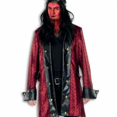 Verkleedkleding  Duivel verkleed jas rood deluxe tip