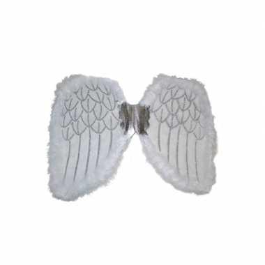 Verkleedkleding engelen verkleed vleugels wit 36 tip