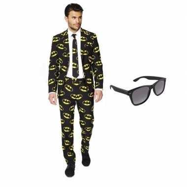 Verkleedkleding feest batman print tuxedo/business suit 52 (xl) heren