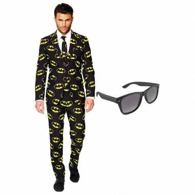 Verkleedkleding feest batman tuxedo/business suit 56 (xxxl) heren gra