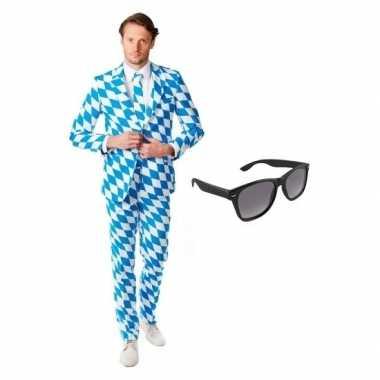 Verkleedkleding feest beierse print tuxedo/business suit 50 (l) heren