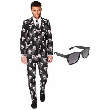 Verkleedkleding feest halloween tuxedo/business suit 56 (xxxl) heren