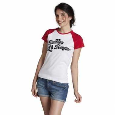 Verkleedkleding feest harley quinn t shirt dames tip